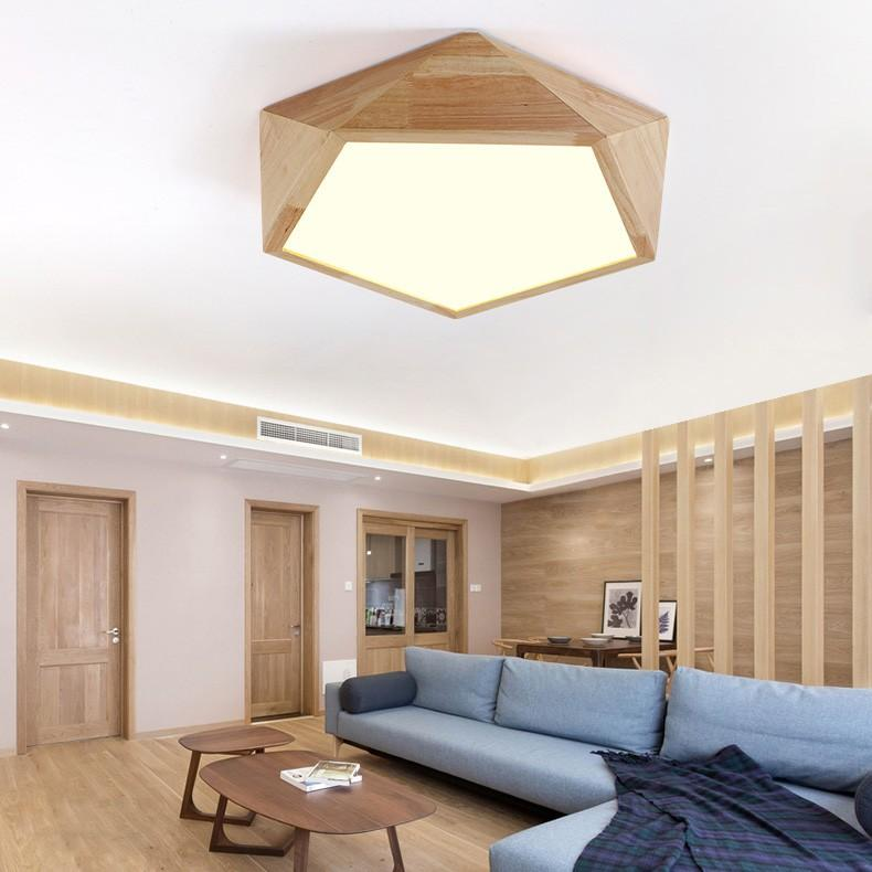 24W Wood LED Ceiling Light Surface mount light Living room Dinning room Bedroom Wood lamp