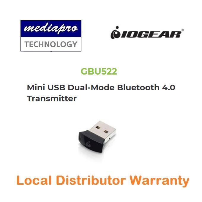 IOGEAR GBU522 Mini USB Dual-Mode Bluetooth 4.0 Transmitter - Local Distributor Warranty