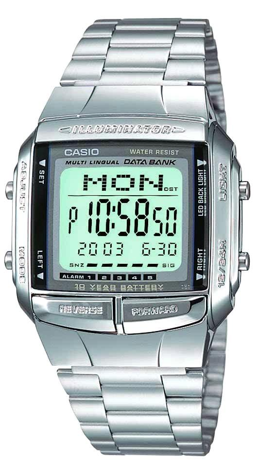 Casio Vintage Series All Steel Digital Watch Db-360-1adf By Hour Boutique.