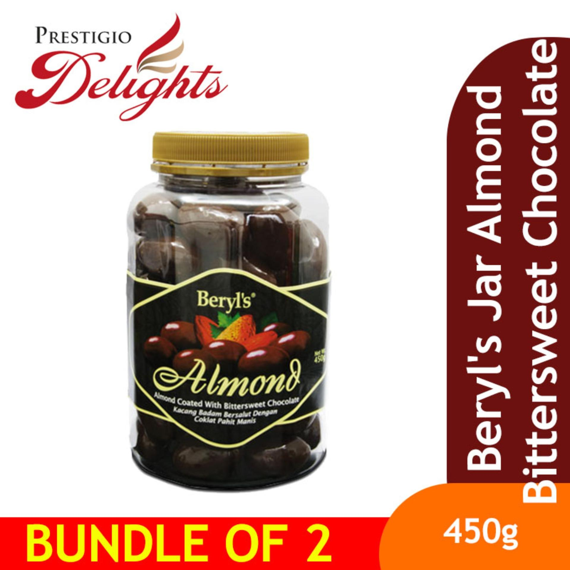 Beryls Jar Almond Bittersweet Chocolate Bundle Of 2 By Prestigio Delights.