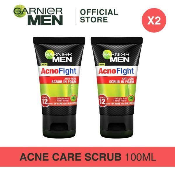 Buy [Bundle of 2s] Garnier Men Acno Fight Anti-Acne Scrub in Foam 100ml Singapore