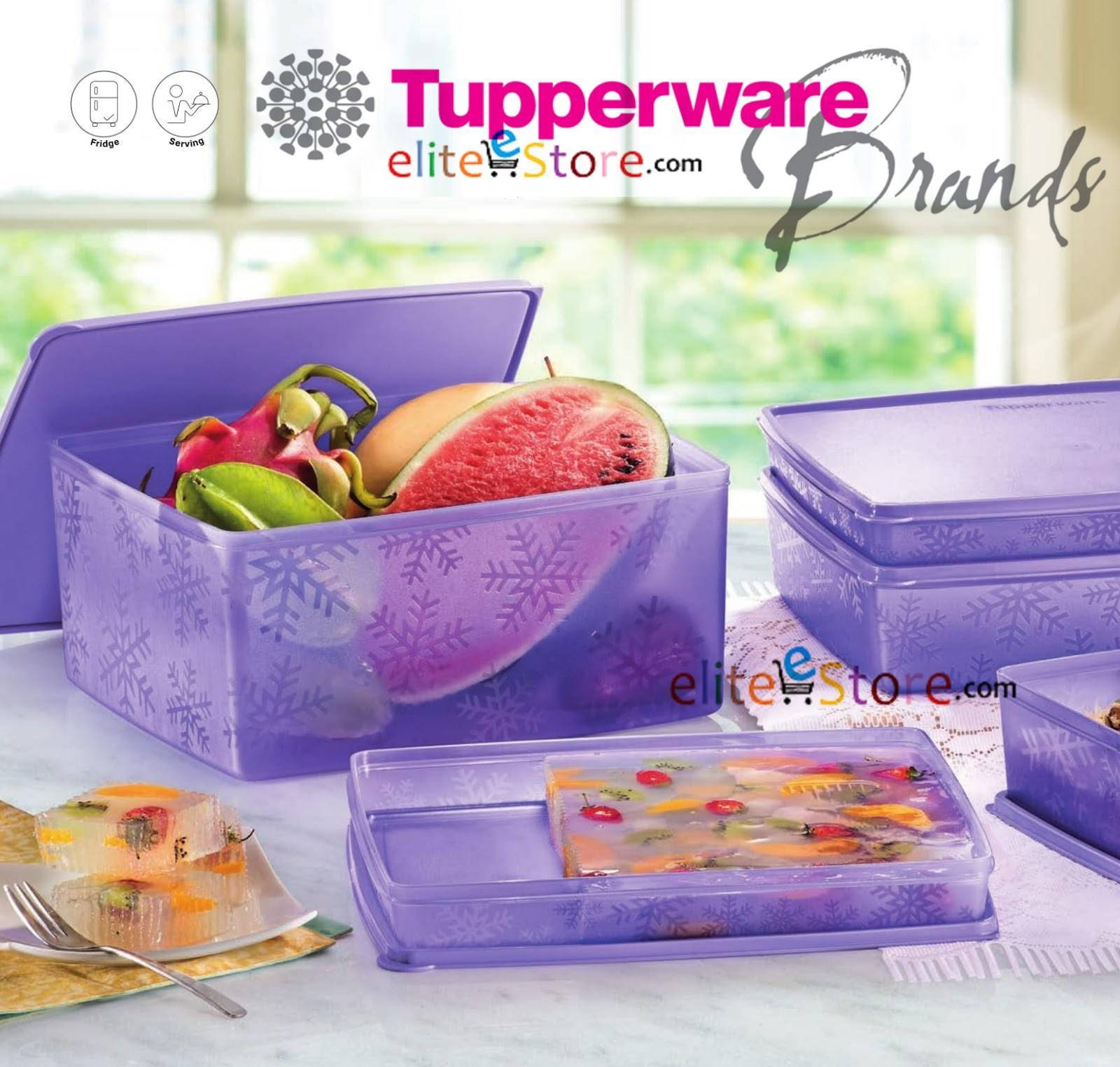 Tupperware Snowflakes 4In1 Set Big 1 5L X2 3L 6L Storage Picnic Kitchen Fridge Storage Food Container Reviews