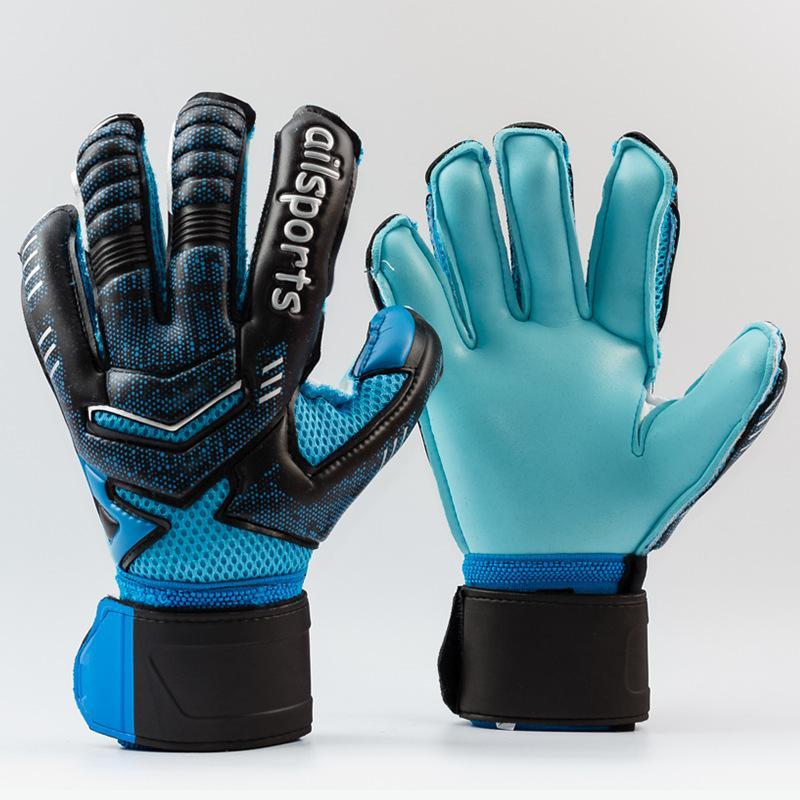 abf259b0a Professional Goalkeeper Gloves Finger Protection Thickened Latex Soccer  Football Goalie Gloves Goal keeper Gloves(orange