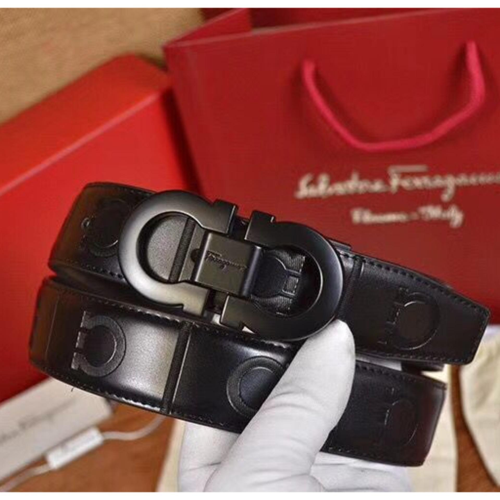 Sale Mens Genuine Cowhide Leather Buckle Belt With Gift Box Intl China Cheap