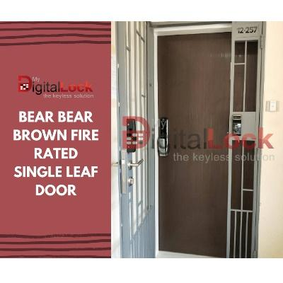 BEAR BEAR BROWN FIRE RATED SINGLE LEAF DOOR