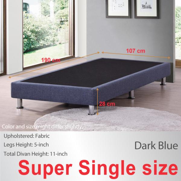 Super Single size * Divan Base * Dark Blue * Fabric Upholstery * Fast Delivery