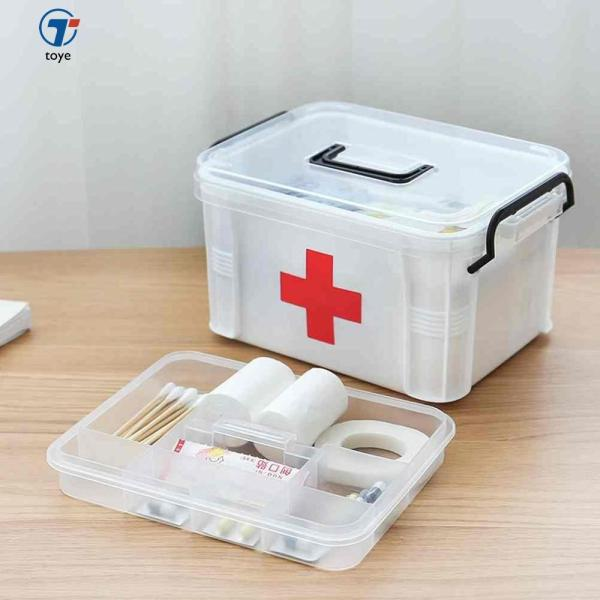 Toye Large Family Home Medicine Chest Cabinet Health Care Plastic Drug First Aid Kit Box Storage Box Chest of Drawers