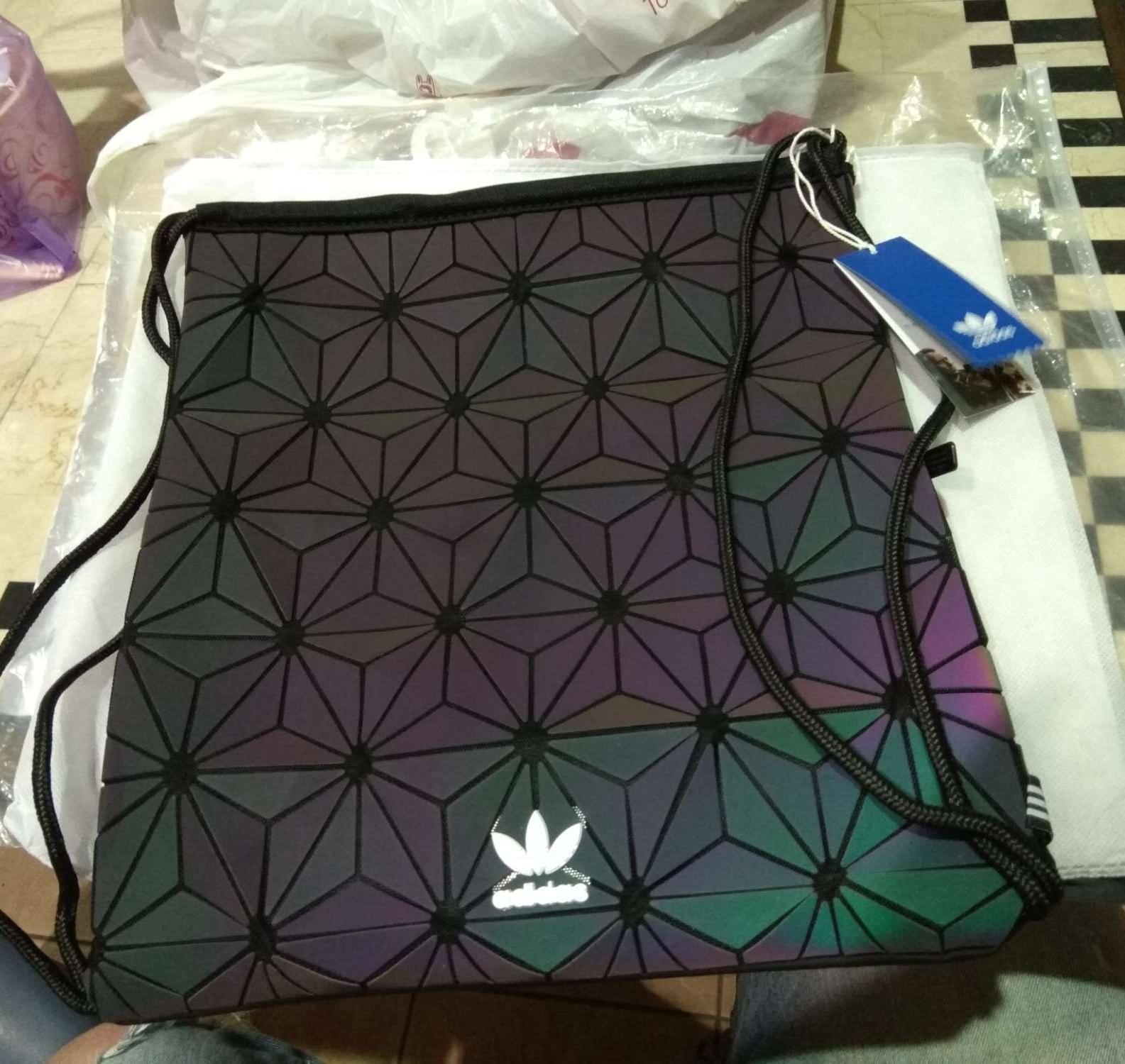 a7419ef57600 Adidas Rainbow Galaxy Issey Miyake Drawstring Bag