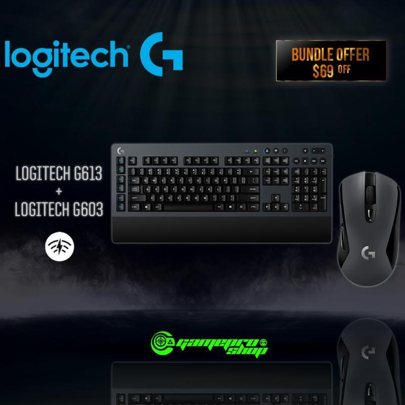 Logitech G613 Lightspeed Wireless Gaming Keyboard/G603 Lightspeed Wireless Gaming Mouse Bundle Singapore