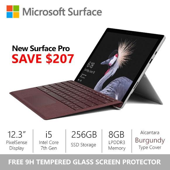 Sale Sale Surface Pro 2017 I5 8Gb 256Gb Burgundy Alcantara Type Cover Bundle Online On Singapore