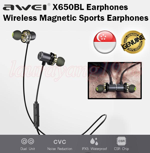 Lowest Price Awei X650Bl Bluetooth Magnetic Wireless Sports Earphone Earpiece Sport Music