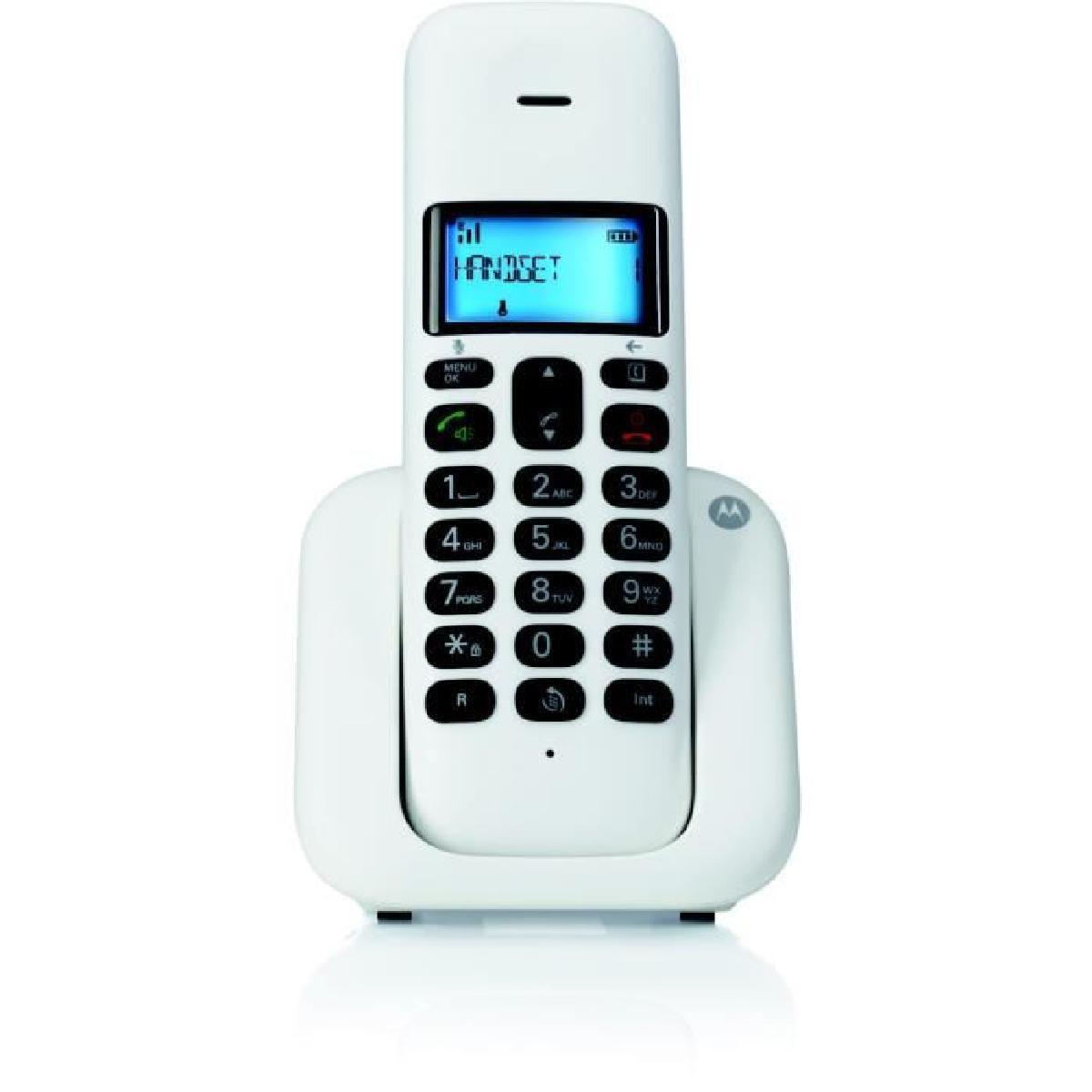 e5a239ac1db Motorola Digital Cordless Phone T301 White 2 Years Warranty