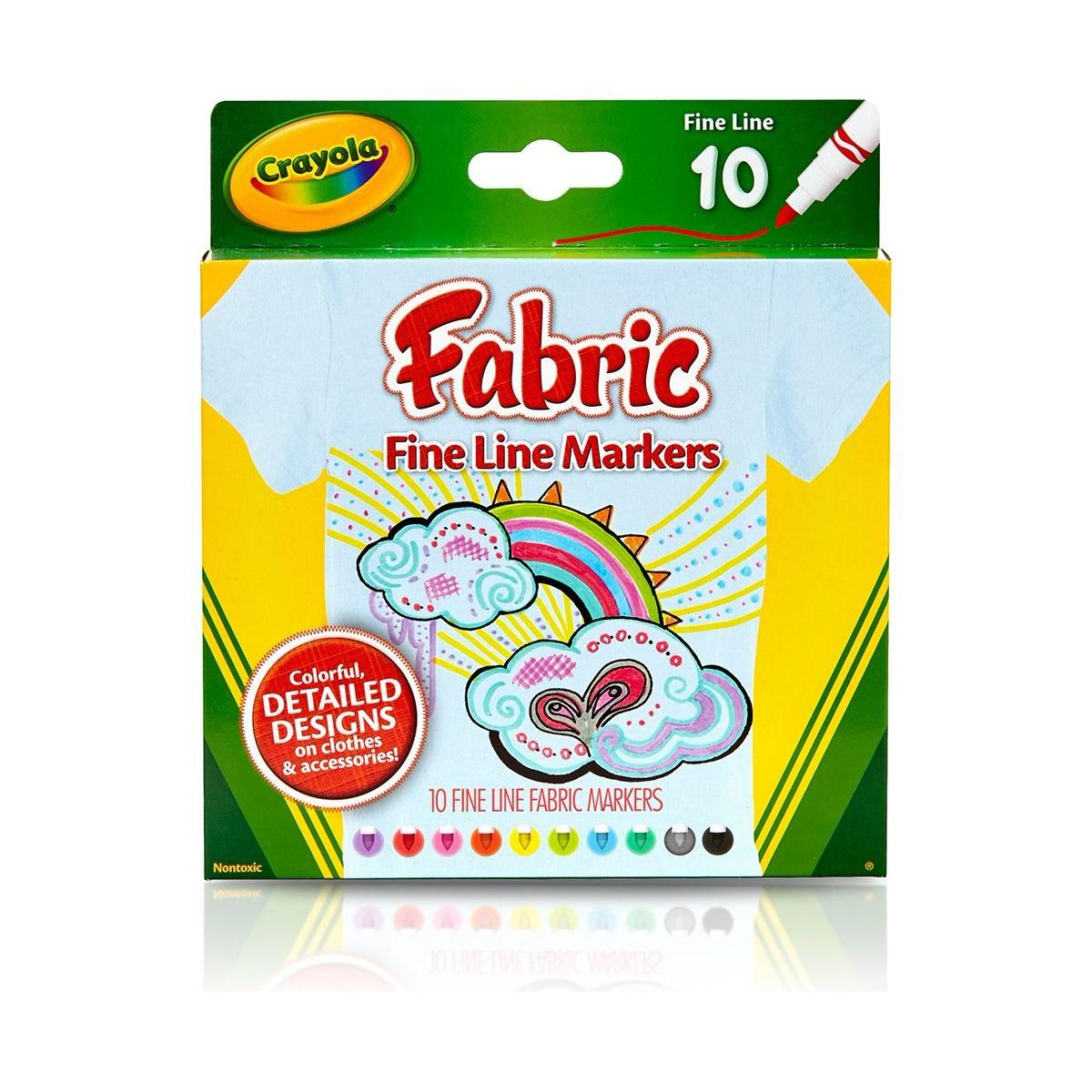 Deals For Crayola Fine Line Fabric Markers 10 Count