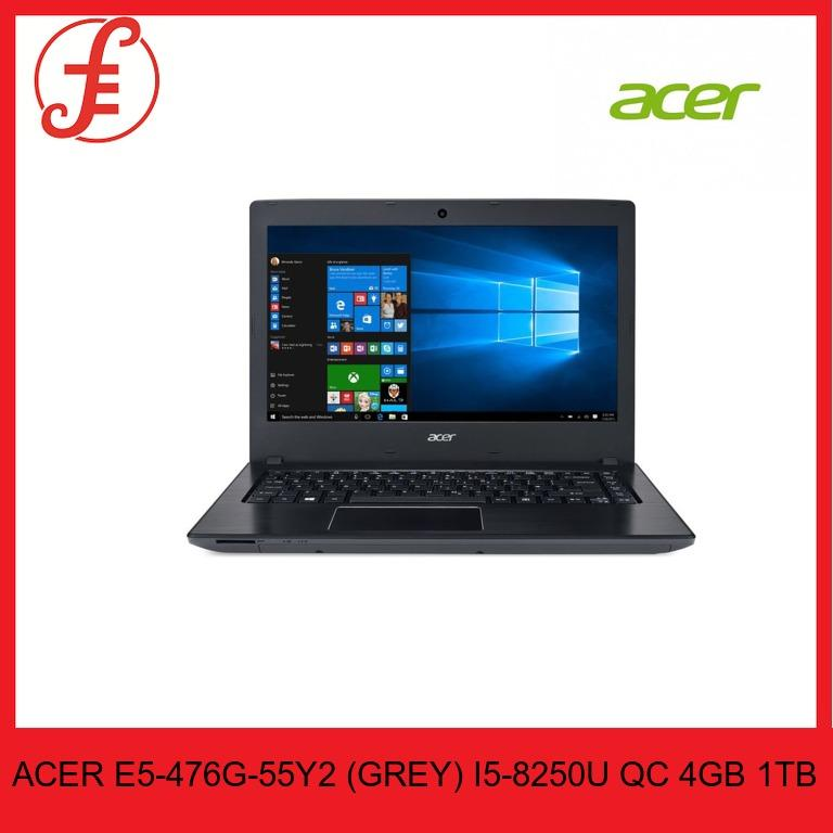 ACER E5-476G-55Y2 (GREY) 14 IN INTEL CORE I5-8250U QC 4GB 1TB HDD WIN 10