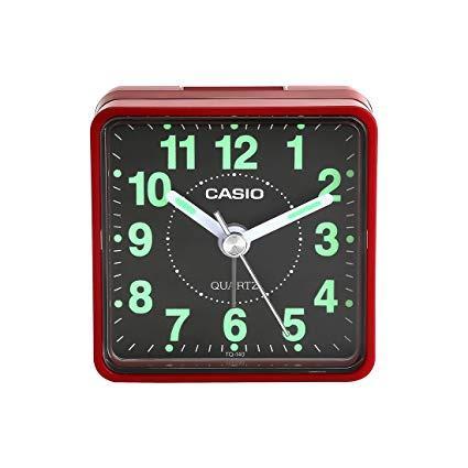 CASIO ANALOG ALARM CLOCK TQ-140-4DF RED BEEPER SOUND ALARM