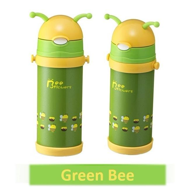 Buy ♥New Arrival♥ Children Kids Cute Animal Vacuum Flask With Drinking Straw Thermos Water Sling Bottle