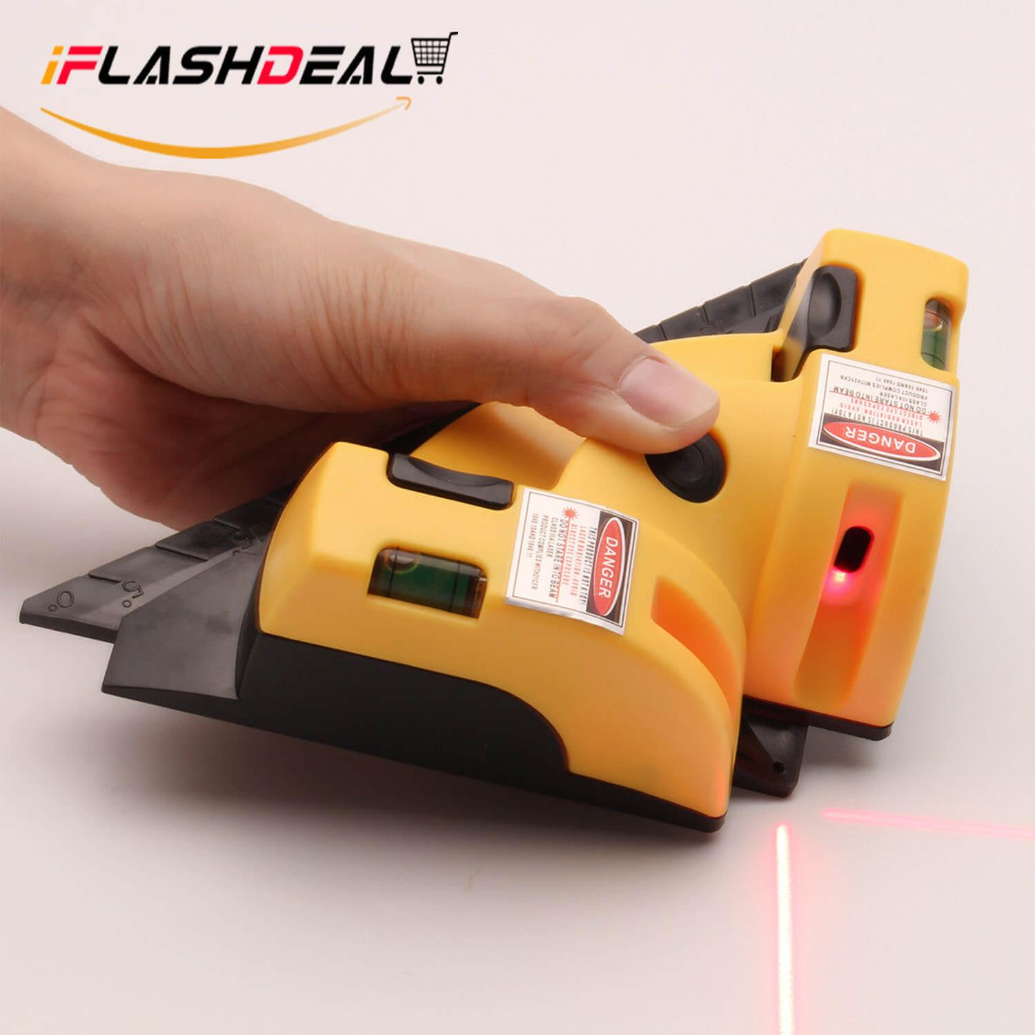 Iflashdeal Vertical Horizontal Laser Level Line Square Right Angle 2 Line Laser Leveling 90 Degree By Iflashdeal.