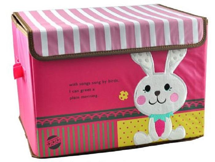 Embroidered Foldable Storage Box for Toys (Rabbit Design 2)