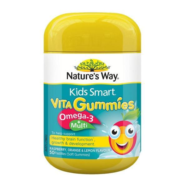 Buy Natures Way Kids Smart Vita Gummies Omega-3 + Multivitamin 50 Gummies  October 2021 Singapore