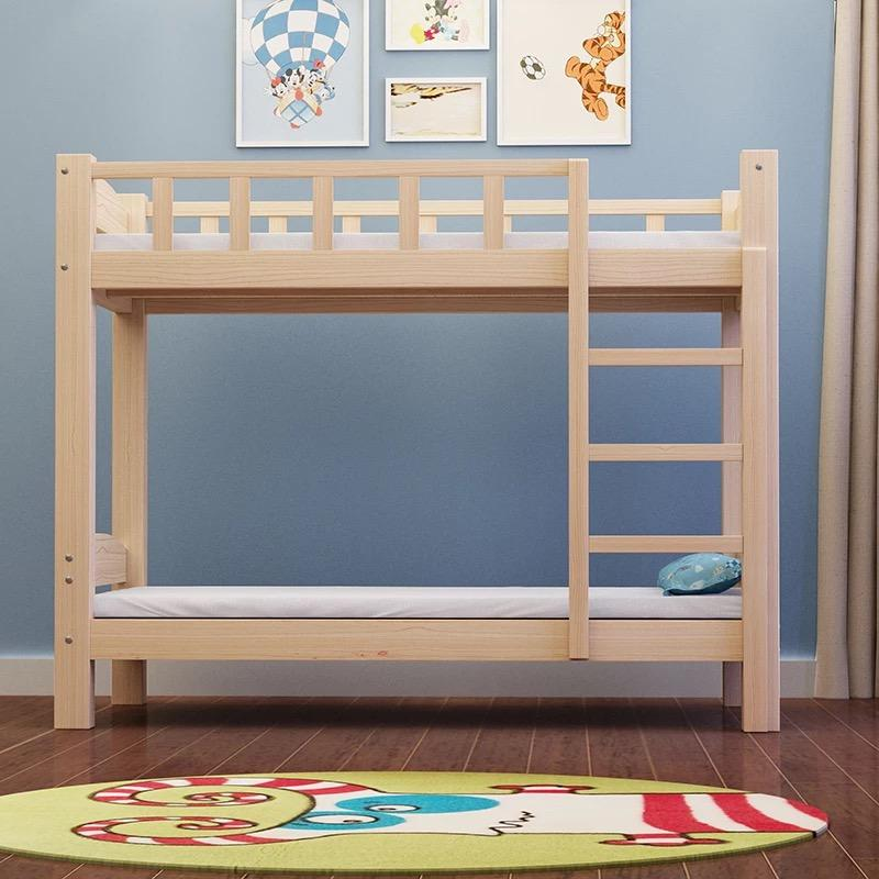 UMD (Free 2 Mattress) solid wood paint free natural healthy double decker bed (Free Installation )