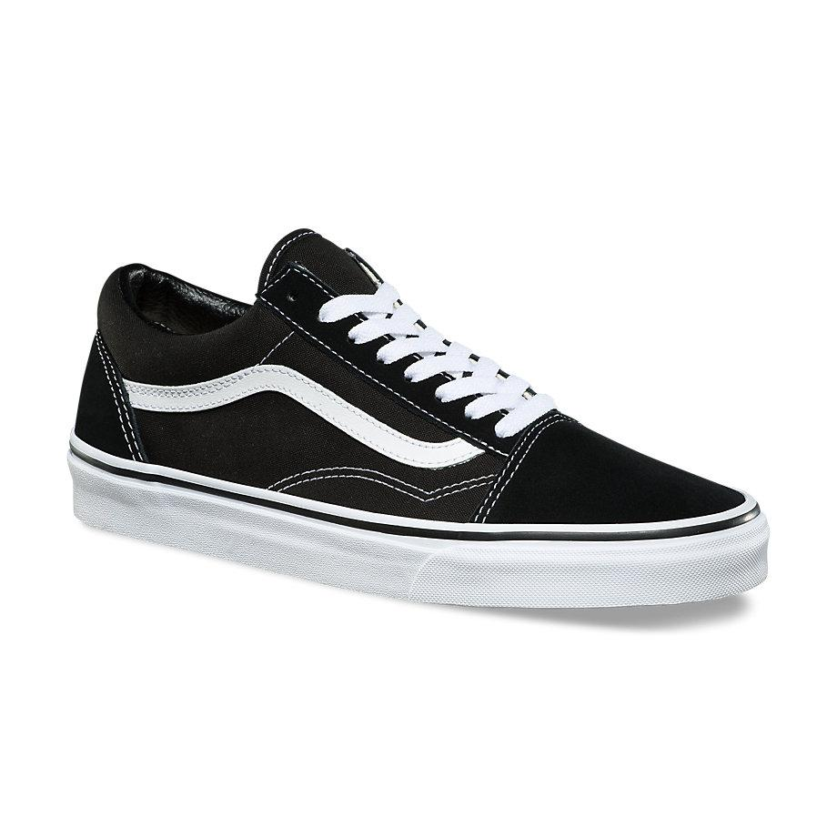 VANS AUTHENTIC SNEAKERS UNISEX COUPLE SHOES OLD SKOOL BLACK WHITE cfcff149f5