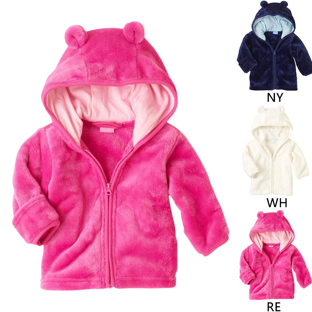 654e7ee74 Baby Girls Boys Hoodies Coat Cute Bear Thick Fleece Jackets Soft Warm  Outerwear Infant Kids Long Sleeve Winter Cloth Hooded Outfits Cashmere  Parka ...