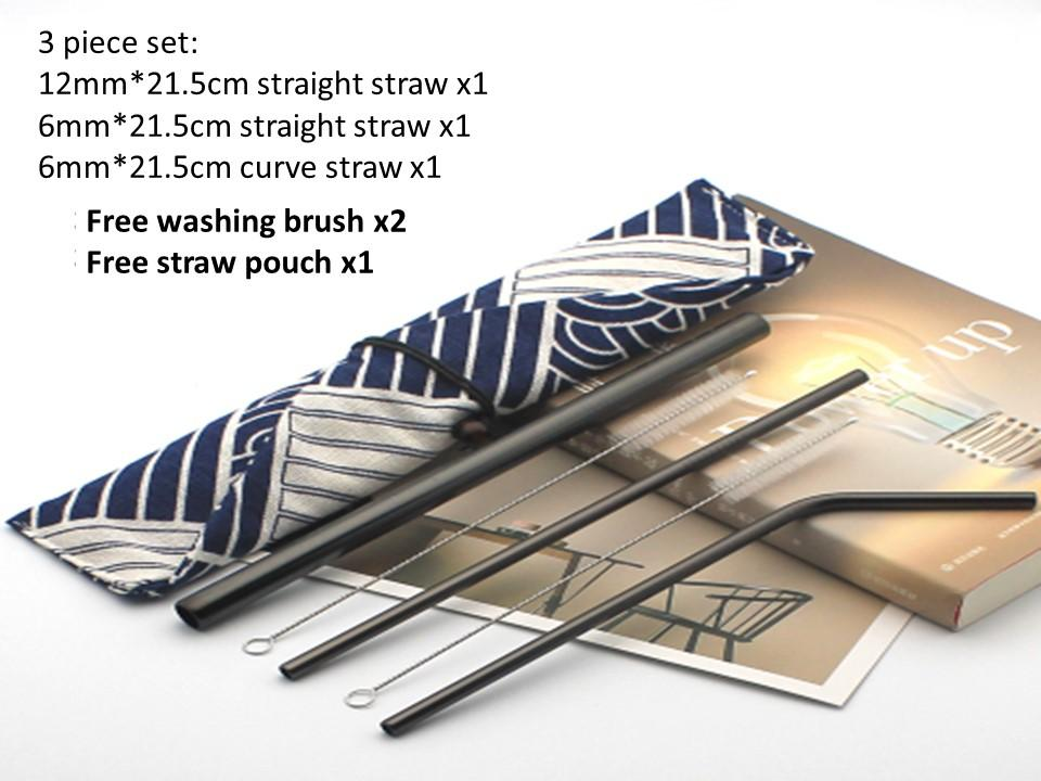 Reuseable Straws Food Grade 304 Stainless Steel Straws By Luvsmart.