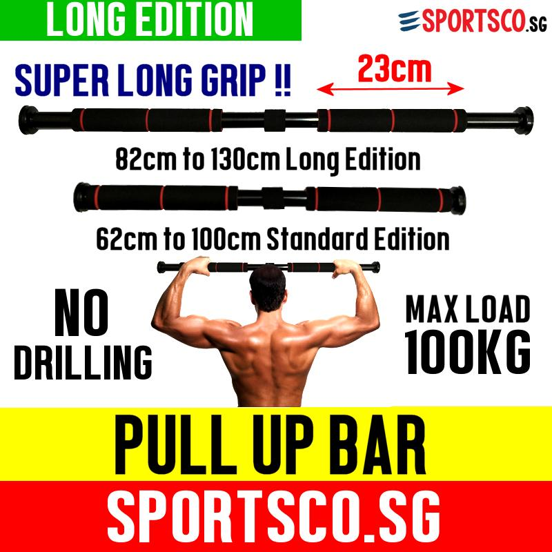 Sportsco Door Way Chin / Pull Up Bar - Long Edition 82-130 Cm - Doorway Pull Up Stand (sg) By Sportsco Singapore.