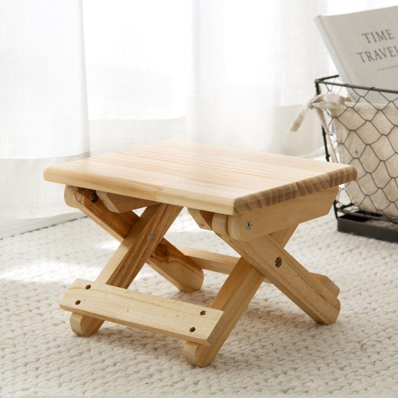 Ju la casa Folding Solid Wood Stool Portable TRAIN Folding Stool Adult Fishing Small Chair Folding Chair Bench