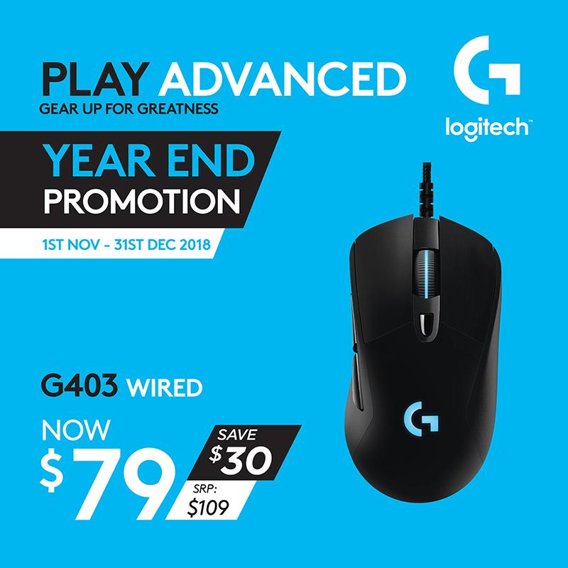 Logitech G403 Prodigy Gaming Wired Mouse with High Performance Gaming Sensor #GamingYearEnd2018Promo