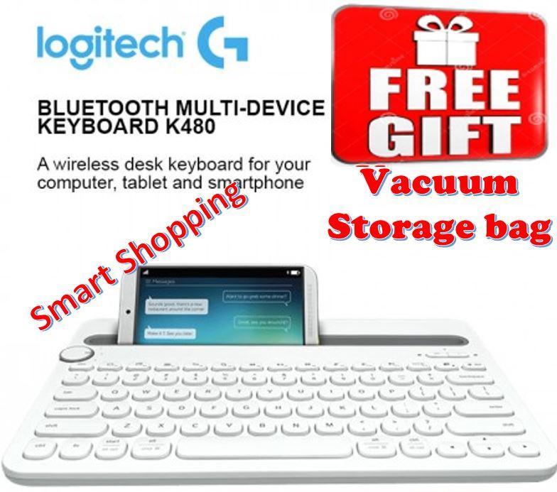 Logitech K480 Bluetooth Multi-Device Keyboard White Black Singapore