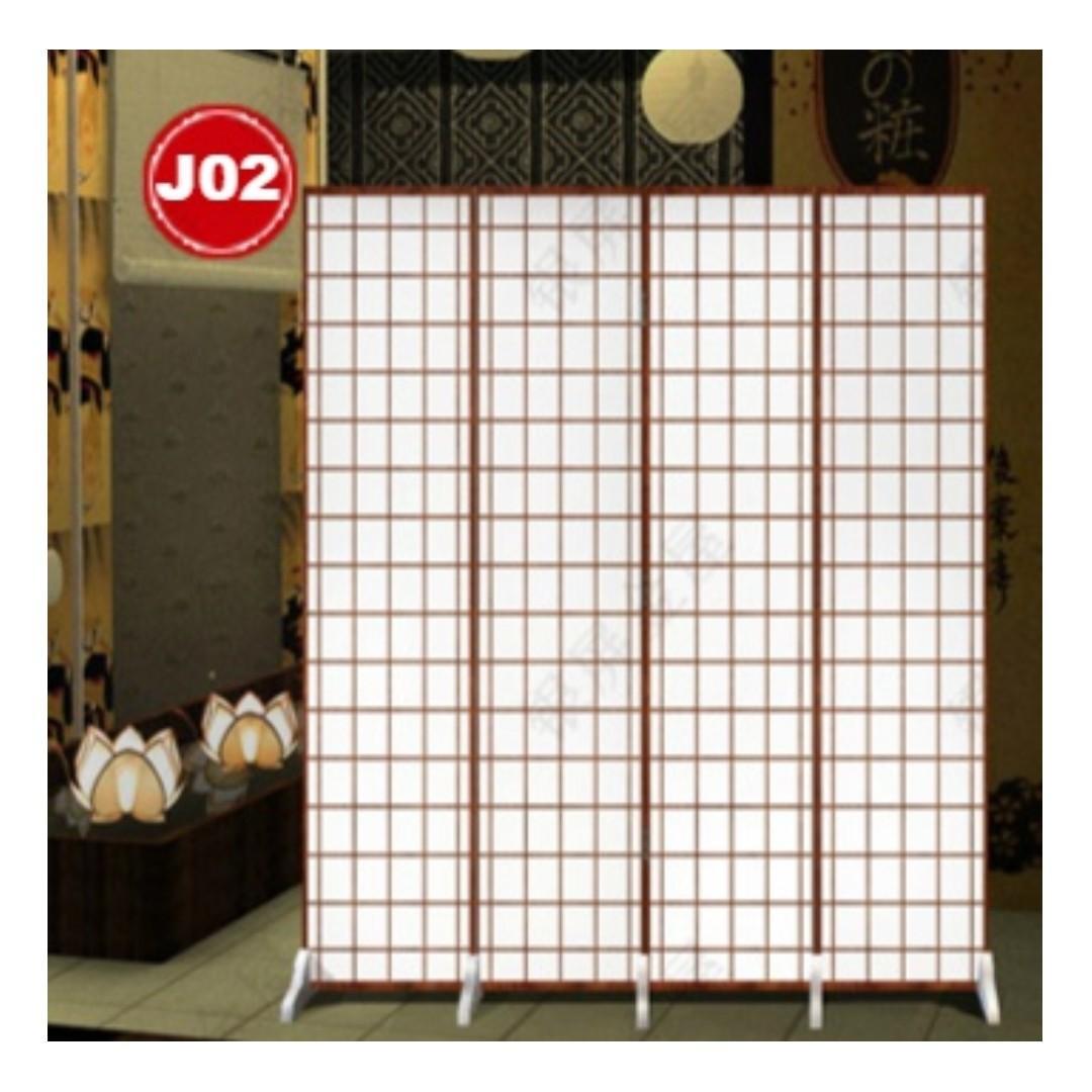Japanese Design 4 pcs Room Divider / Partition /  Screens