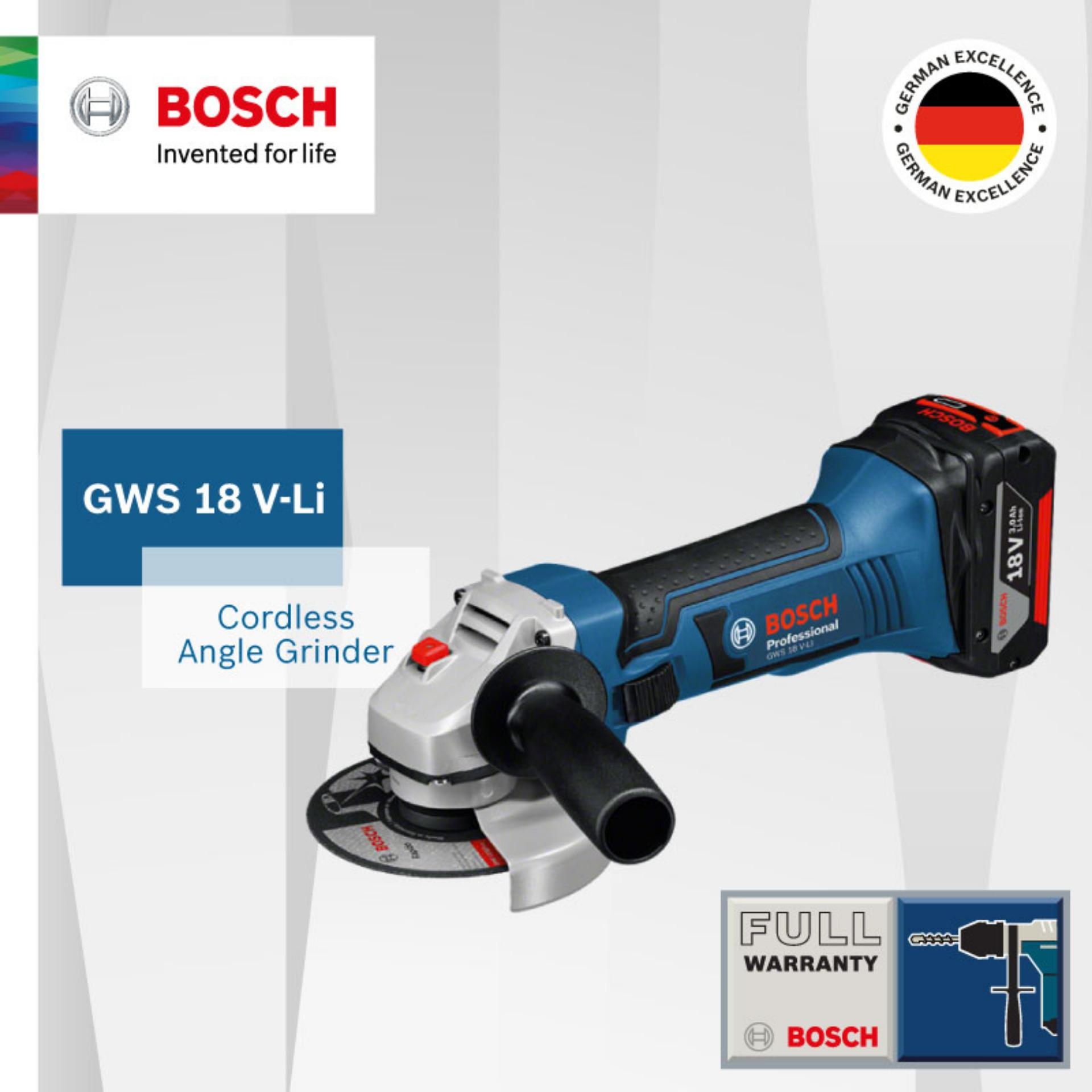 Bosch GWS 18V-Li Cordless Angle Grinder 18V (BARE TOOLS ONLY) Singapore