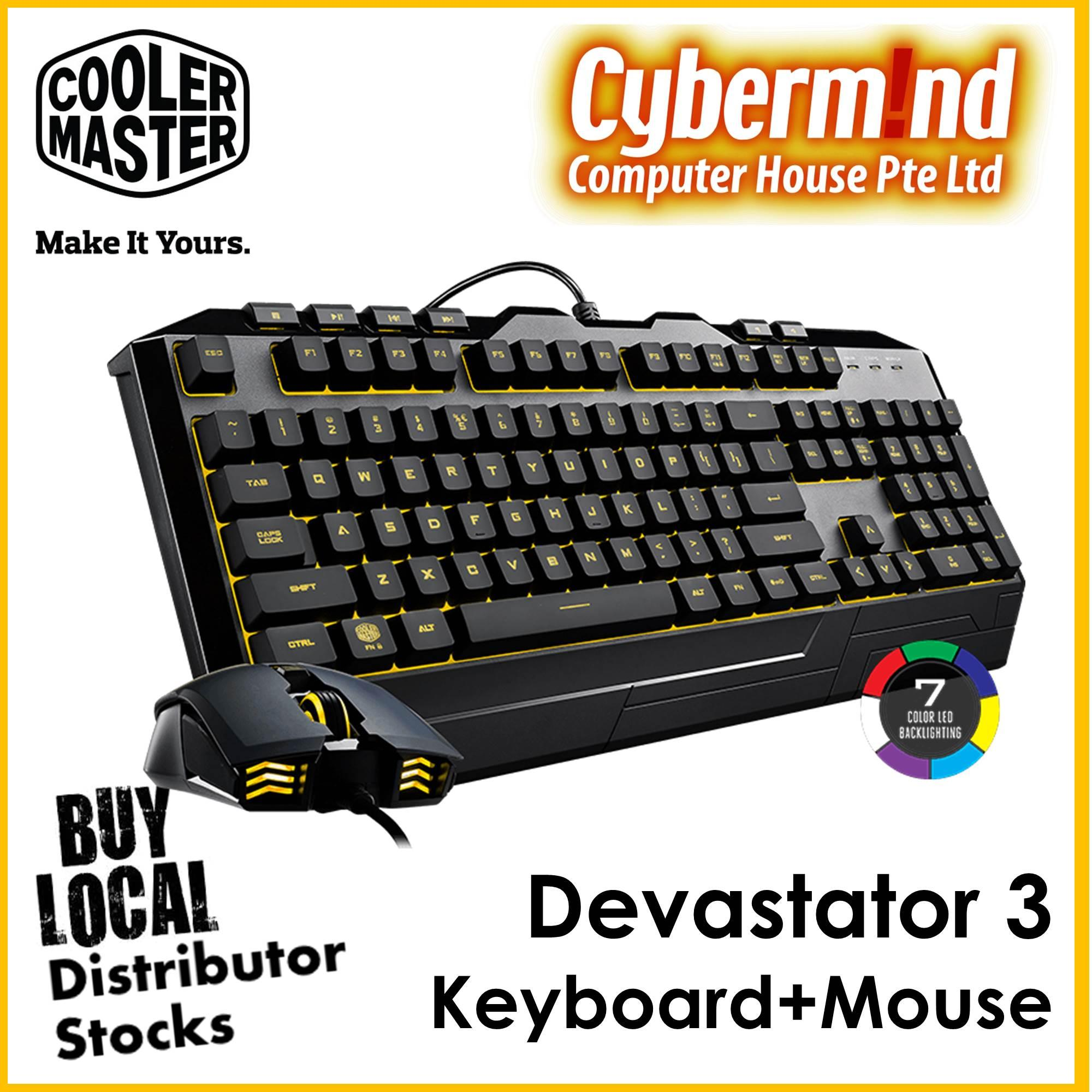 CoolerMaster Devastator 3 Gaming keyboard and mouse combo