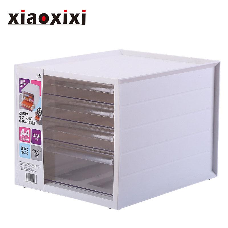 Desktop Storage Box, Japanese Style, Creative, Drawer Type, Transparent Plastic Multi-layered, Classification Label, High-grade Stationery Finishing Box, High-quality PP Plastic Material, Ergonomic Design, Durable, Fine Workmanship (27.5*33.5*25cm)
