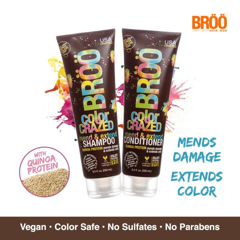 Buy Broo Color Crazed Shampoo + Conditioner (2 x 250ml) Singapore