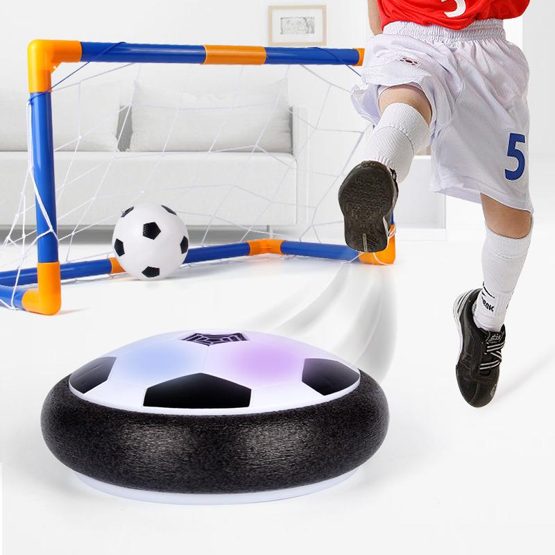 Music Air Hover Ball - Electric Led Light Flashing Ball Air Power Soccer Ball Colorful Disc Indoor Football Toy Multi-Surface Hovering And Gliding Outdoor Funny Chidrens Gift By Vococal Shop.