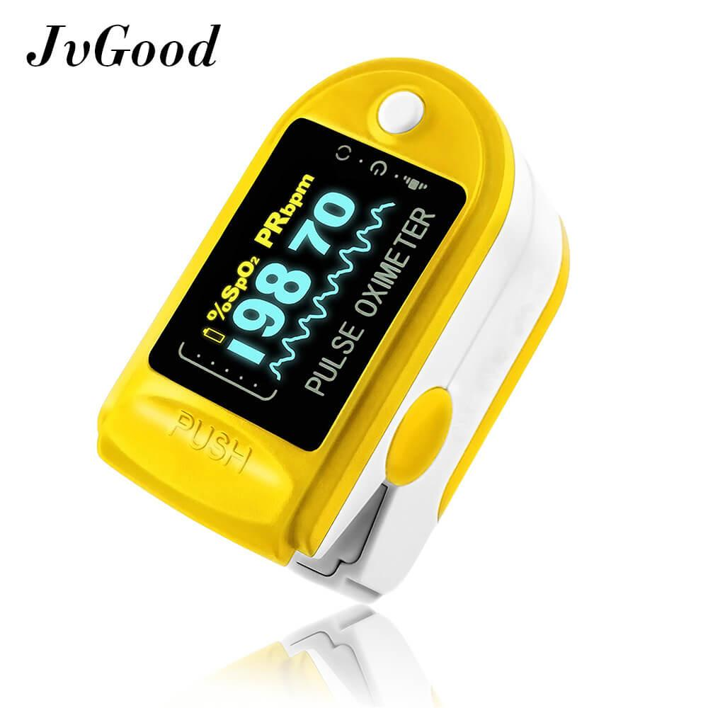 New Jvgood Fingertip Pulse Oximeter Blood Oxygen Saturation Levels Heart Rate Spo2 Monitor With Oled Display Blue Intl