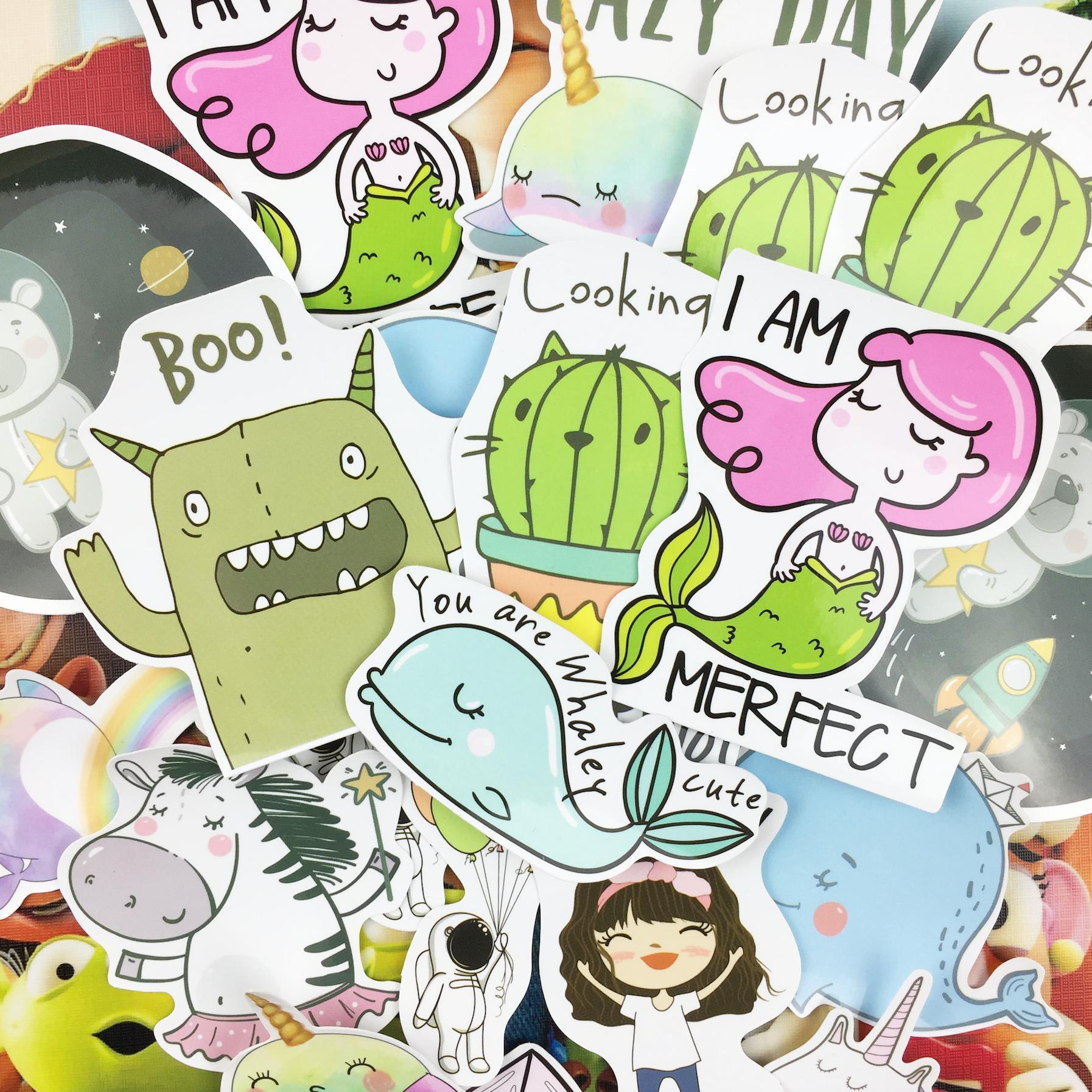 Sticker Bomb (Pack of 40) Cute Sticker funny sticker decal craft supplies