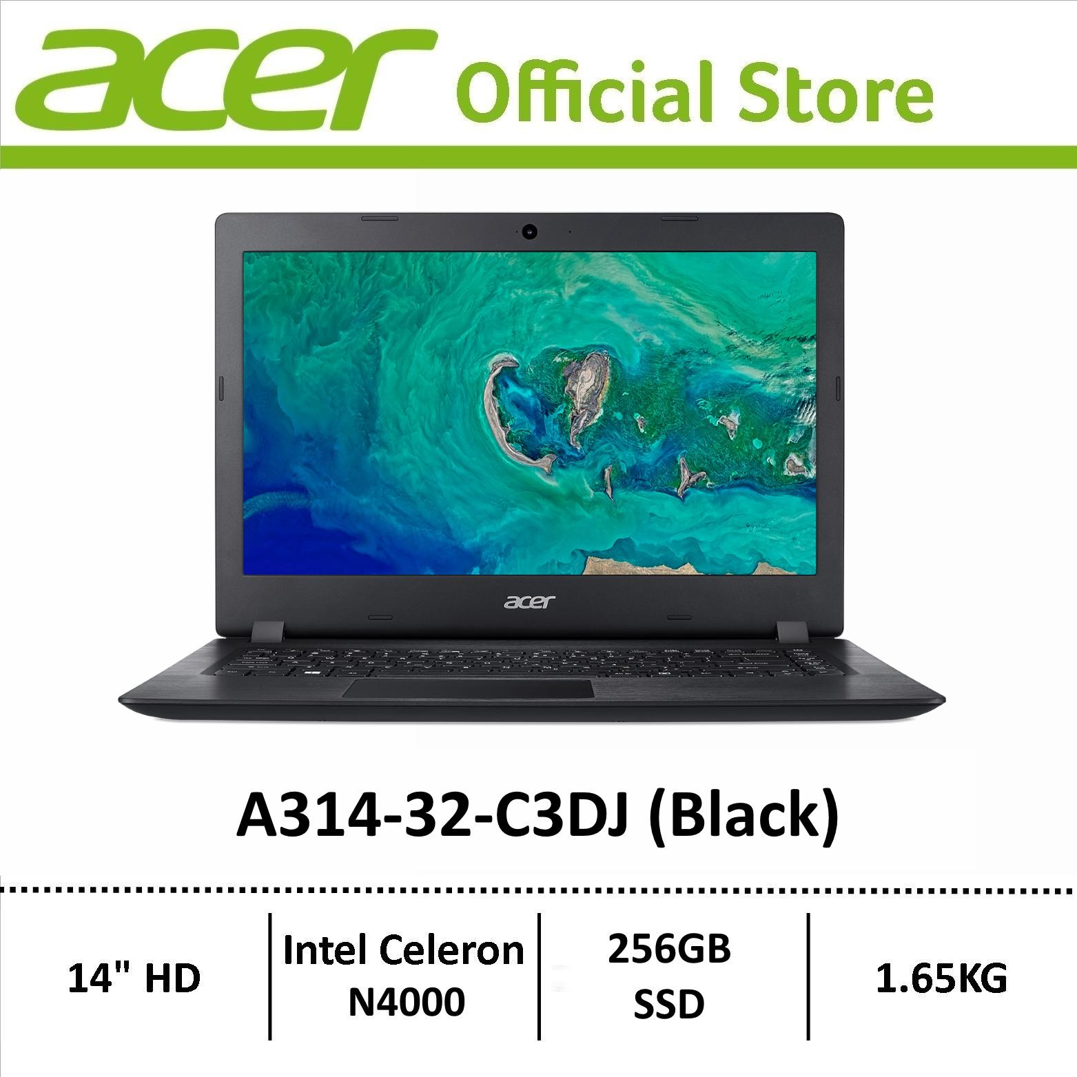 Acer Aspire A314-32-C3DJ (Black) Laptop with 256GB SSD Storage - Online Exclusive