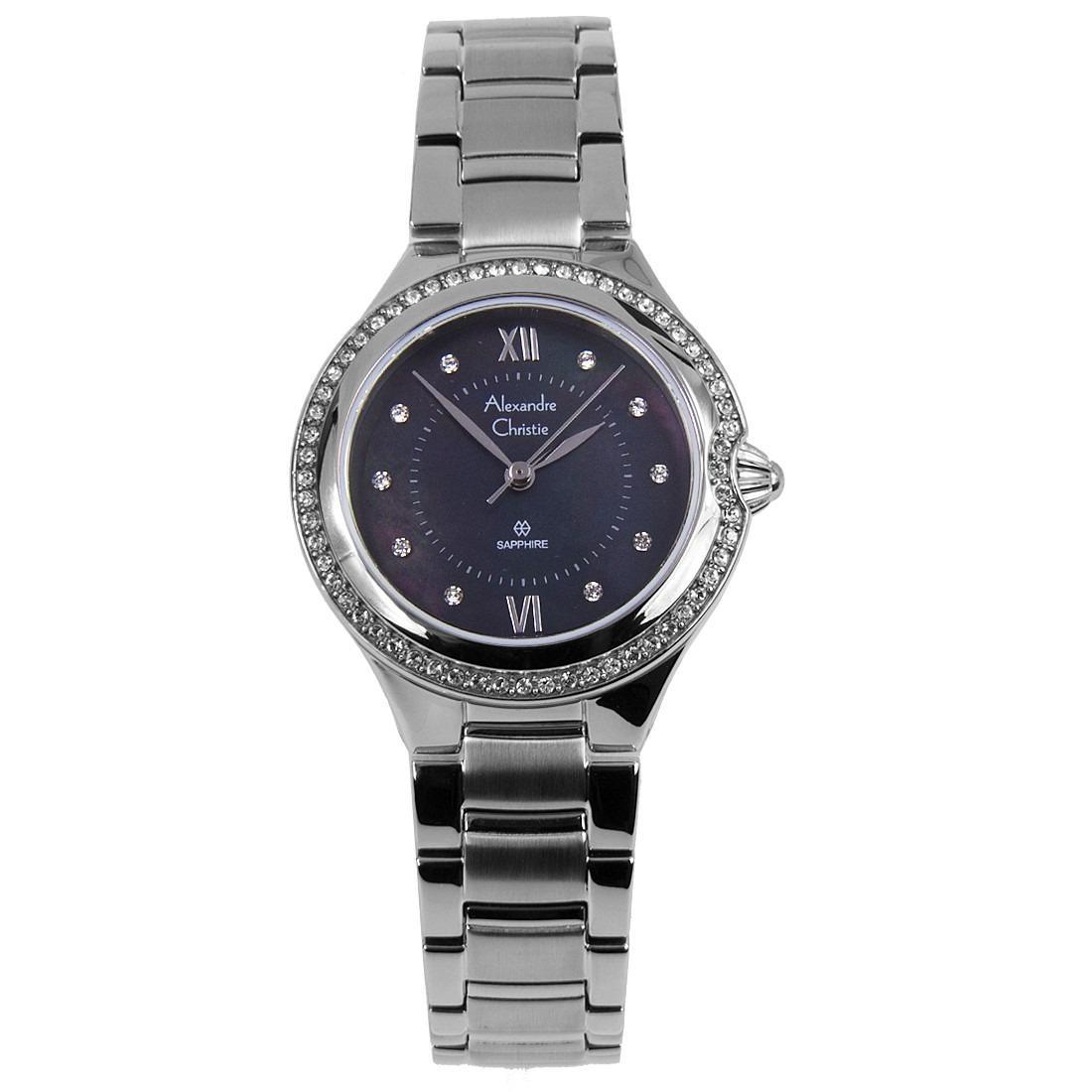 Latest Alexandre Christie Watches Products Enjoy Huge Discounts Ac 6410 Black Strap Men Original Sapphire Analog Stainless Steel Watch 2665lhbssmr