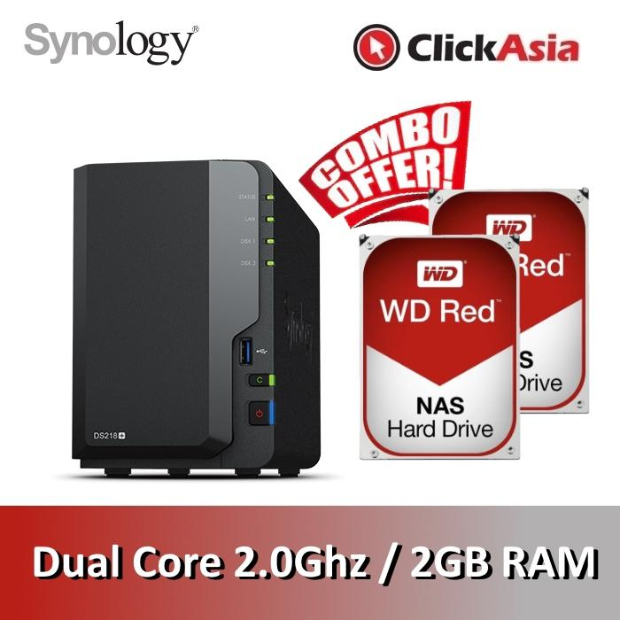 Synology Ds218+ Diskstation 2 Bays Nas By Clickasia.