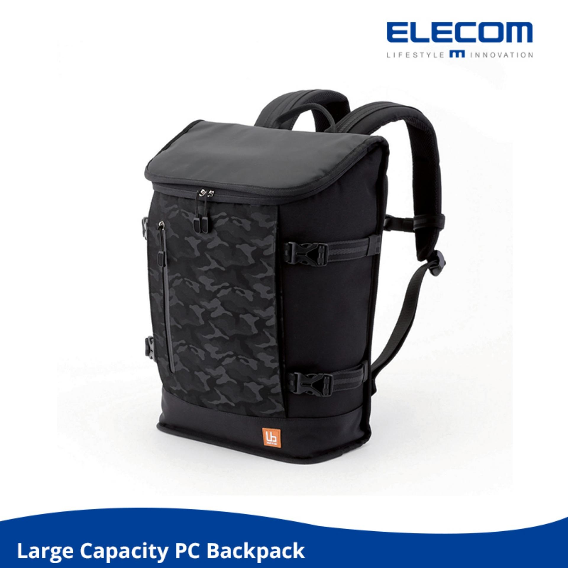 Elecom Large Capacity Stylish Laptop Backpack Water Resistant Casual Use Travel Use Elecom Cheap On Singapore
