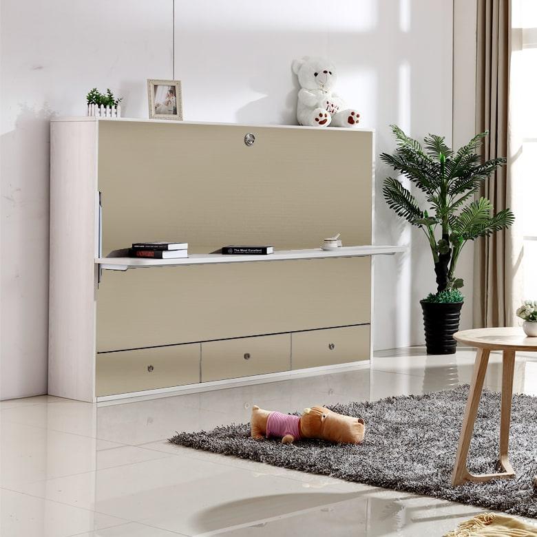 Eden Smart Living Beth Super Single Wall Bed With Desk RD-C107D-005