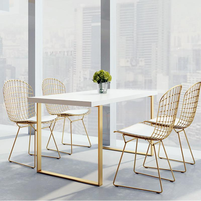 HYUNDAI Table Dining Table Made of Solid Wood Nordic Minimalist Restaurants Strip Dining Tables And Chairs Set Home Living Room Dining Table