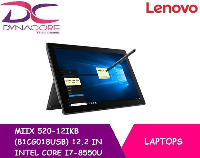 BRAND NEW LENOVO MIIX 520-12IKB (81CG018USB) 12.2 IN INTEL CORE I7-8550U 8GB 512GB SSD WIN 10 PRO