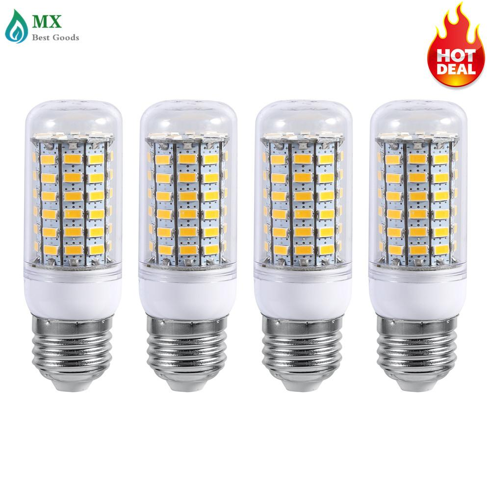 4Pcs E27 LED Bright Home Ceiling Pendant Lamp Corn Light Bulb