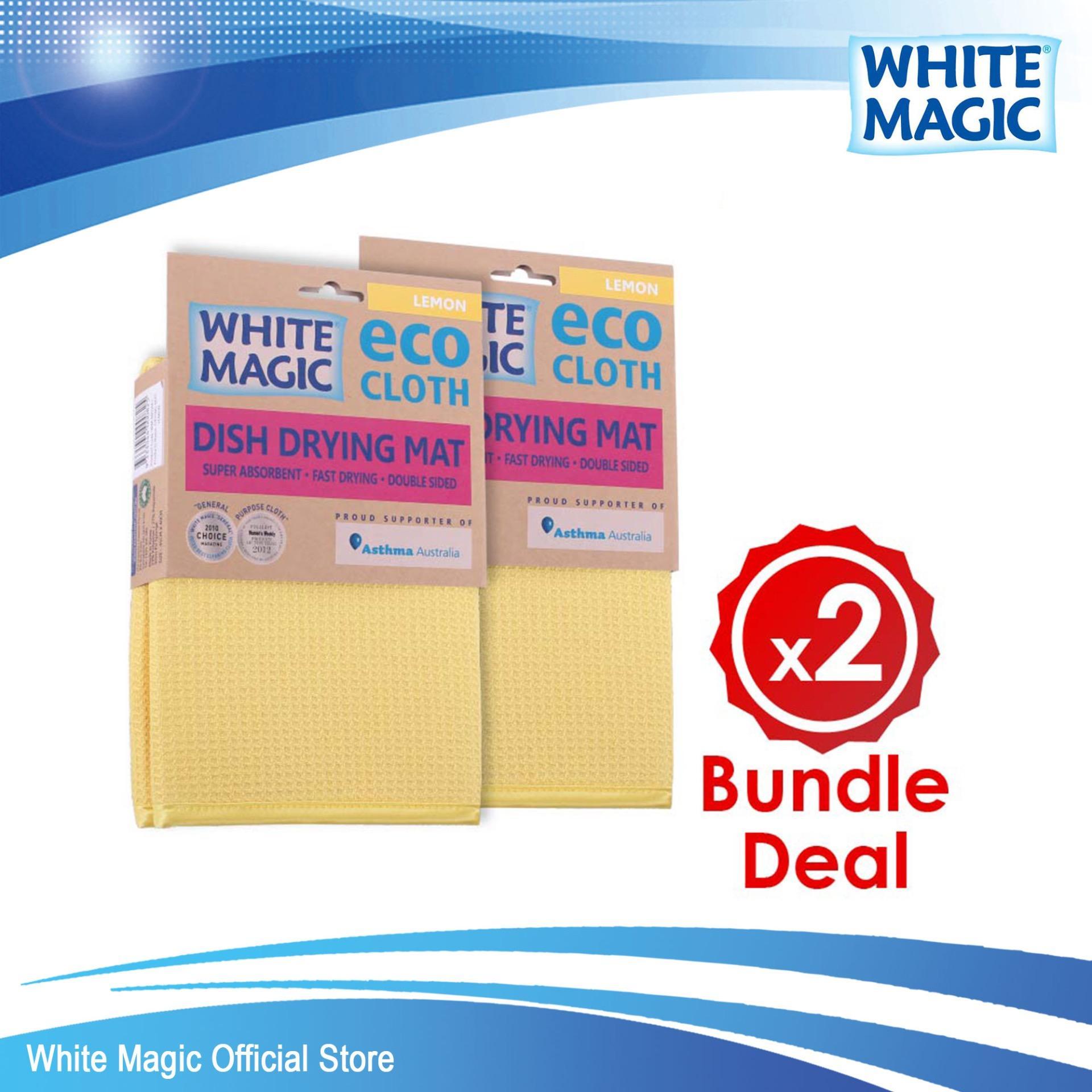 Review Bundle Deal White Magic Dish Drying Mat X 2 White Magic