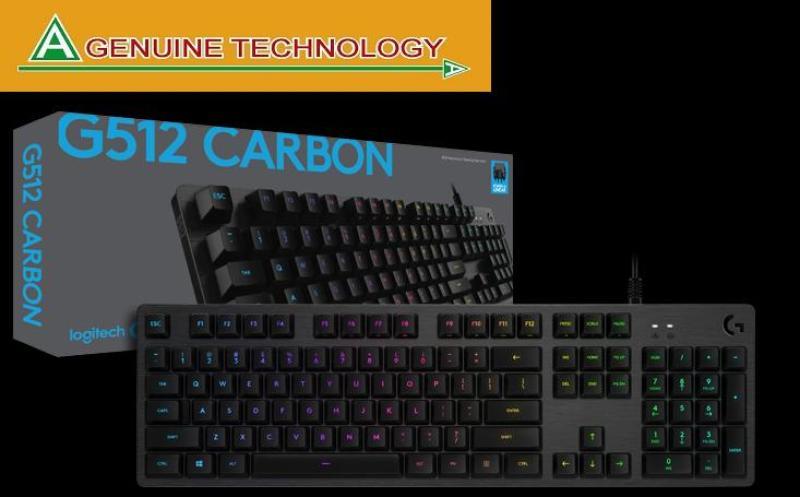 Logitech G512 Romer-G Tactile Carbon RGB Mechanical Gaming Keyboard Singapore