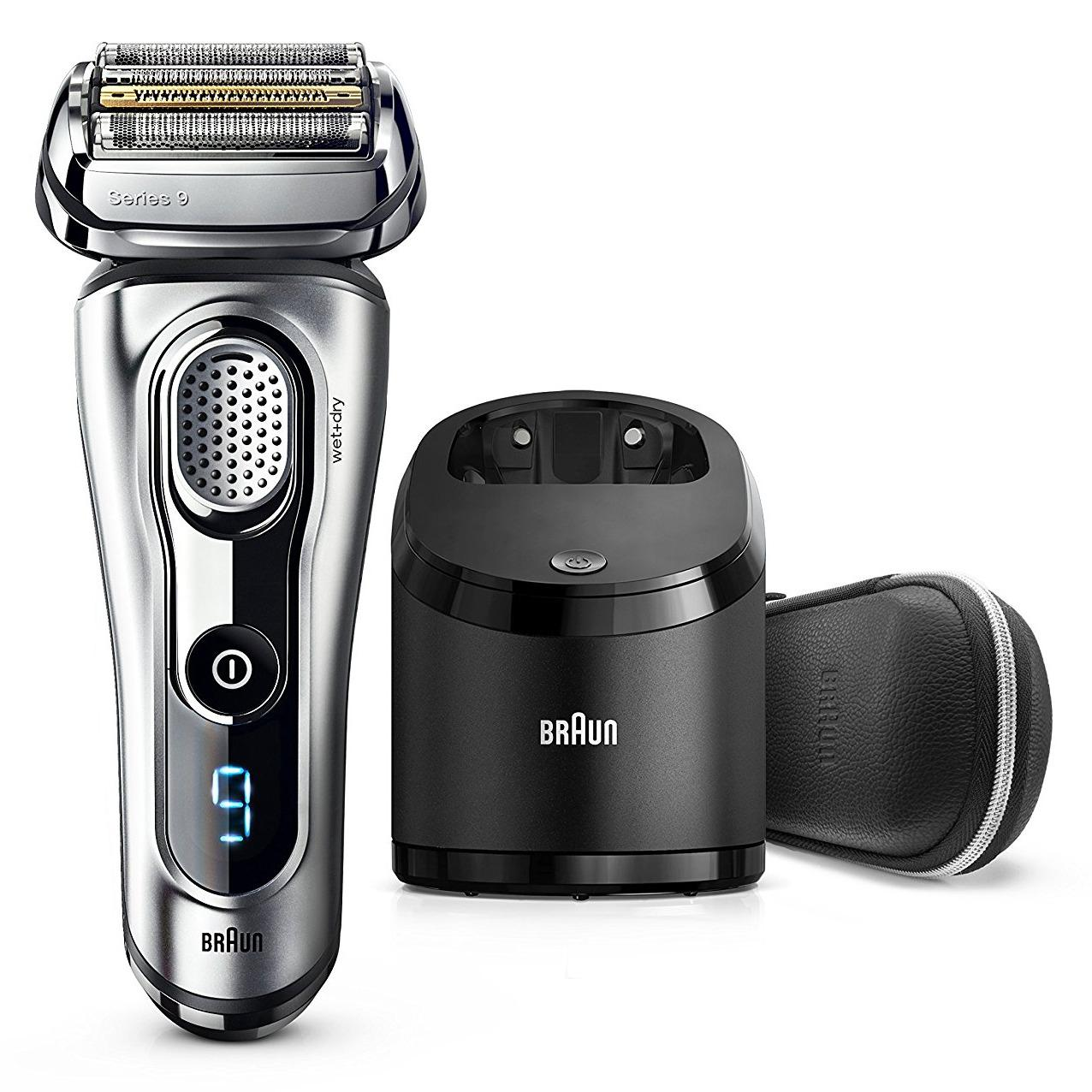 Low Price Braun Series 9 9296Cc Men S Electric Foil Shaver Wet And Dry Leather Case Edition With Clean And Renew Charge Station Pop Up Trimmer Rechargeable And Cordless Razor Chrome